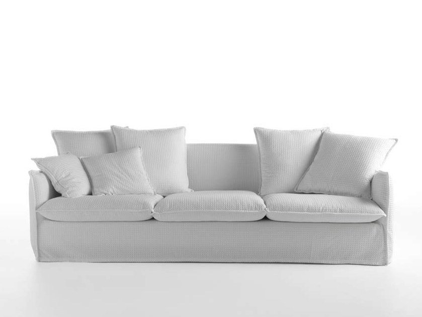 3 seater sofa with removable cover MILOS | 3 seater sofa - HORM.IT