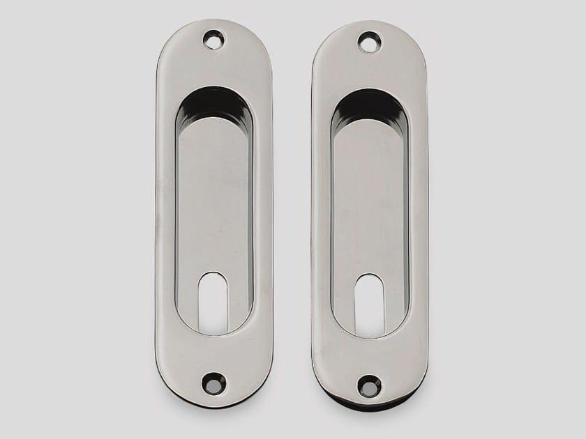 Recessed metal door handle KIT H - Frascio