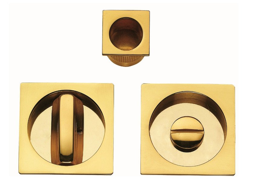 Recessed brass door handle KIT T - Frascio