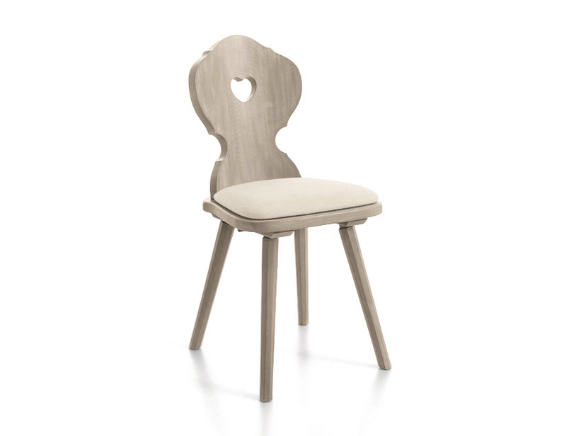 Wooden chair CORTINA | Upholstered chair - Scandola Mobili