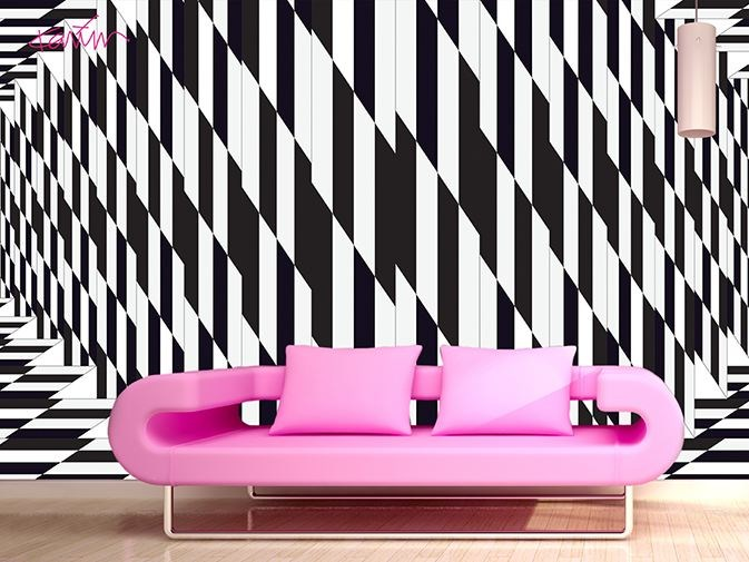 Optical vinyl wallpaper MIRAGE by GLAMORA