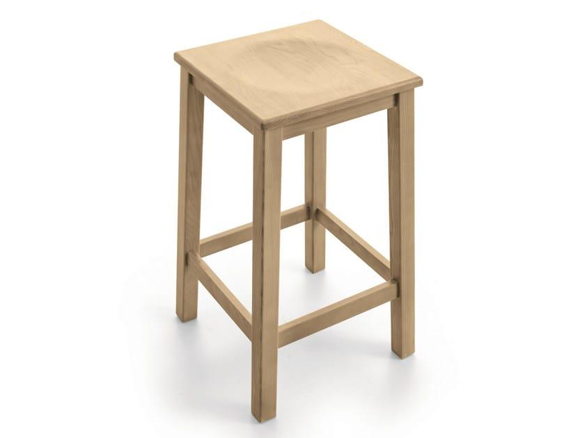 Wooden stool with footrest PAESANA | Stool - Scandola Mobili