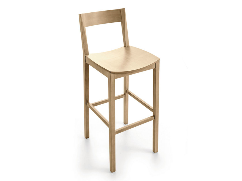Wooden counter stool with footrest CORALLINA | Counter stool - Scandola Mobili