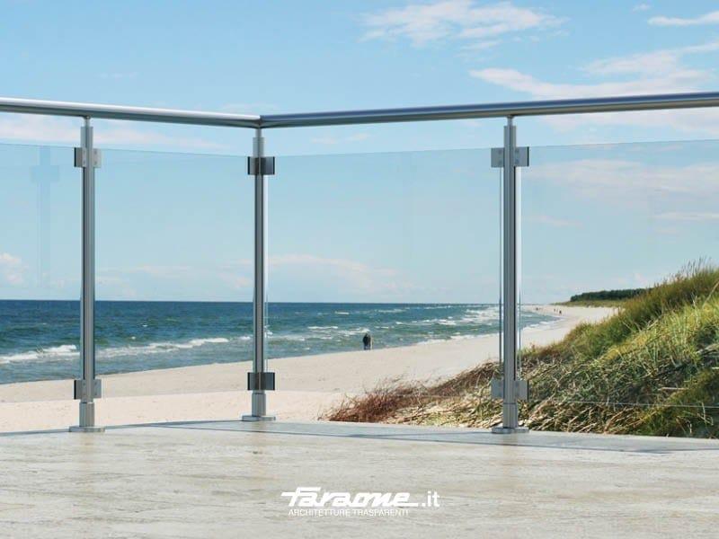 Glass and aluminium balustrade SKY by FARAONE