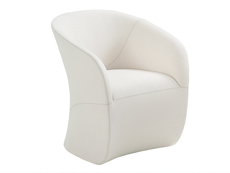 Upholstered easy chair with armrests CALLA by Zanotta