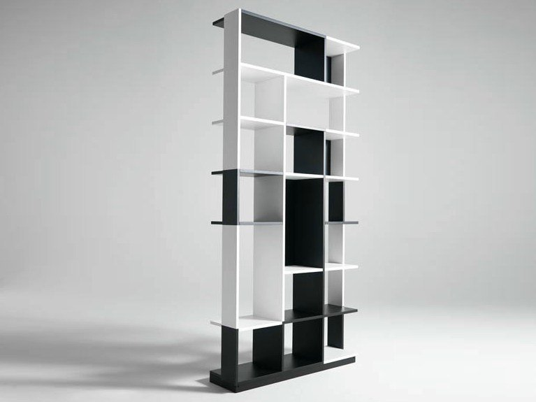 Sectional wooden bookcase SUDOKU by horm