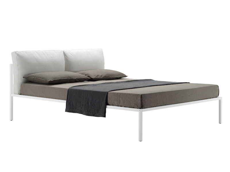 Double bed with upholstered headboard NYX 1707 - Zanotta