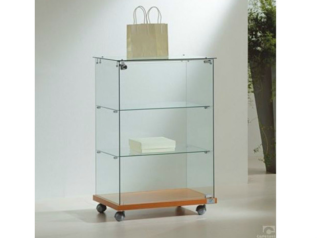 Retail display case with casters VE6090   Retail display case - Castellani.it