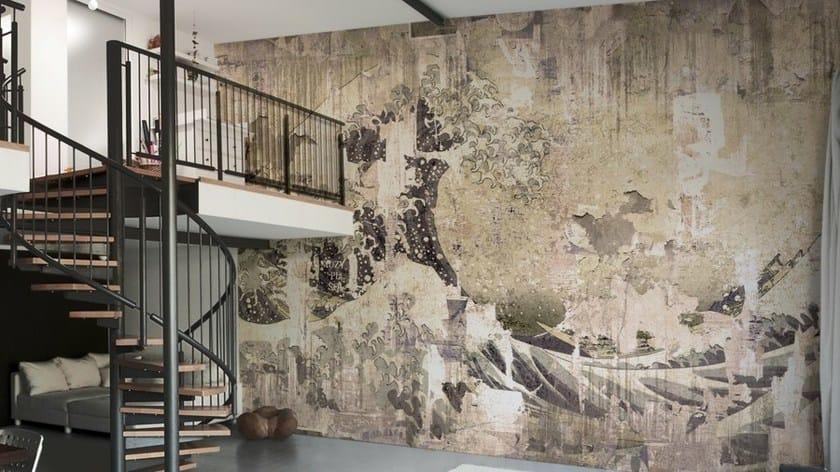 Carta da parati effetto muro in vinile new wave glamora for Carta parati vinile