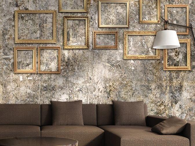 Carta da parati effetto muro in vinile framed glamora for Carta da parati effetto muro