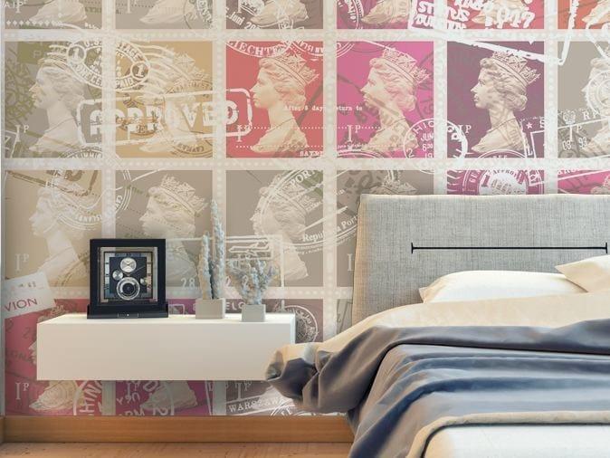 Motif vinyl wallpaper AIR MAIL by GLAMORA
