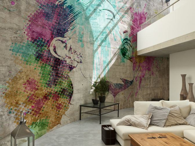 Wall effect vinyl wallpaper SONORA by GLAMORA