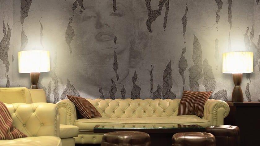 Carta da parati effetto muro in vinile iconoclast glamora for Carta da parati effetto muro rovinato