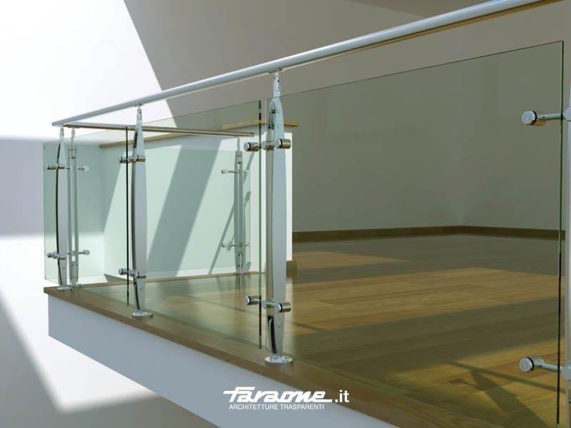 Parapetto in acciaio inox e vetro elisir faraone for Barandas de vidrio y acero