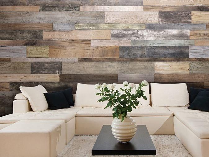 Carta da parati effetto legno in vinile woodnote glamora - Tavole adesive per pareti 3d ...