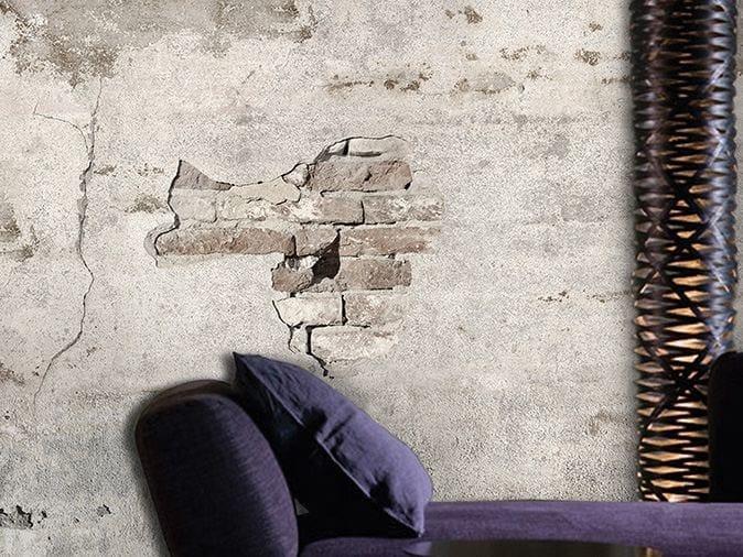 Carta da parati effetto muro in vinile brick by brick for Carta da parati effetto muro