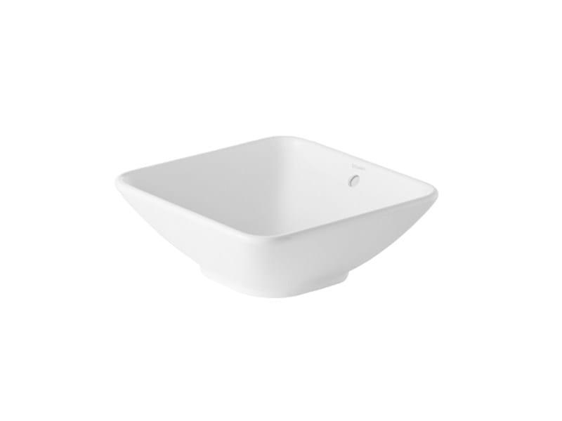 Countertop square ceramic washbasin BACINO | Square washbasin - DURAVIT