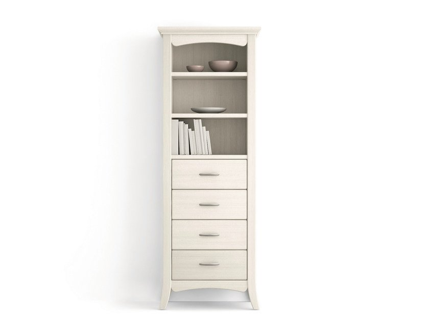 Wooden high cabinets with drawers ARCANDA | High cabinets with drawers - Scandola Mobili