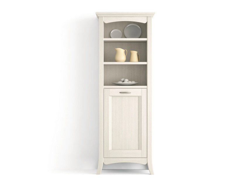 Solid wood bathroom cabinet / highboard ARCANDA | Solid wood highboard - Scandola Mobili