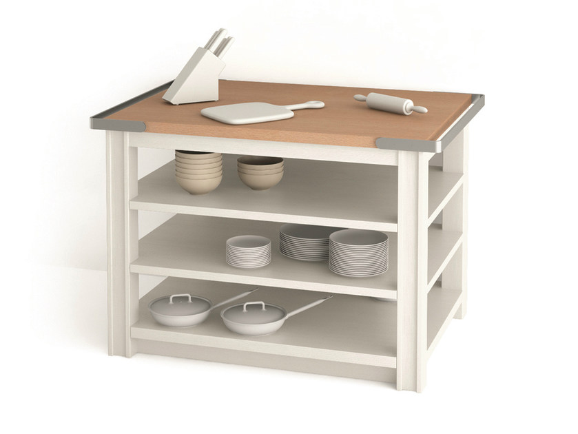 Wooden kitchen unit with chopping board MAESTRALE | Base cabinet with chopping board - Scandola Mobili