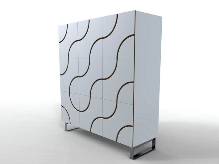 Lacquered highboard INFINITY | Highboard - HORM.IT