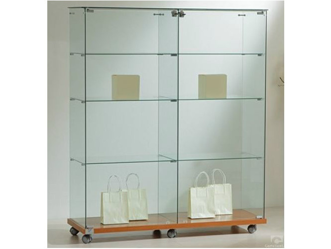Retail display case with casters VE120140 | Retail display case - Castellani.it