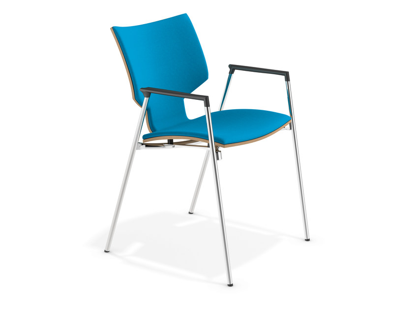 Fabric chair with armrests LYNX I | Chair with armrests - Casala