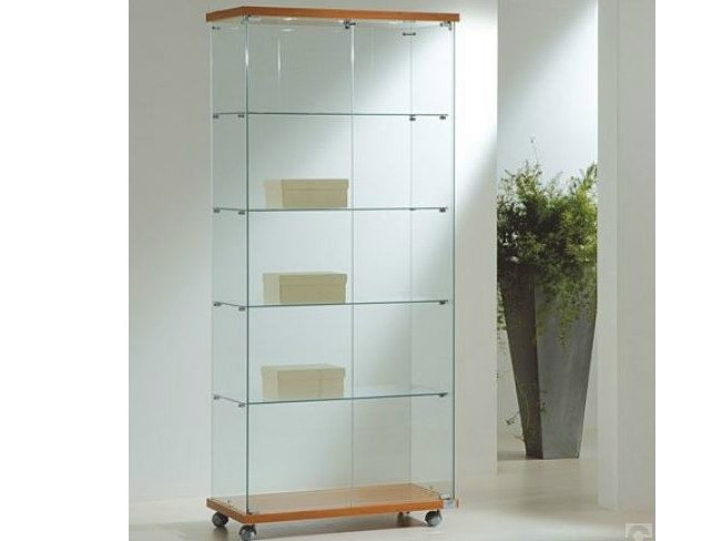Retail display case with integrated lighting with casters VE80180F | Retail display case by Castellani.it