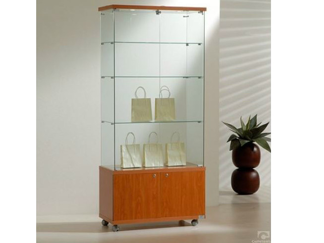 Retail display case with integrated lighting with casters VE80180FM | Retail display case by Castellani.it