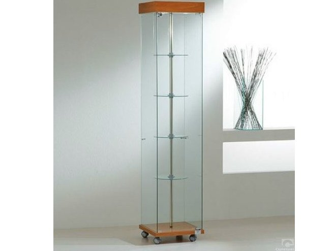 Retail display case with integrated lighting with casters VE40180G | Retail display case - Castellani.it