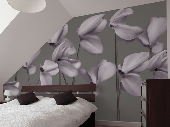 Vinyl wallpaper with floral pattern GRACE by GLAMORA