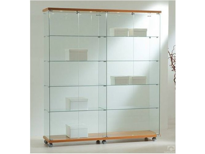 Retail display case with integrated lighting with casters VE160180F | Retail display case by Castellani.it