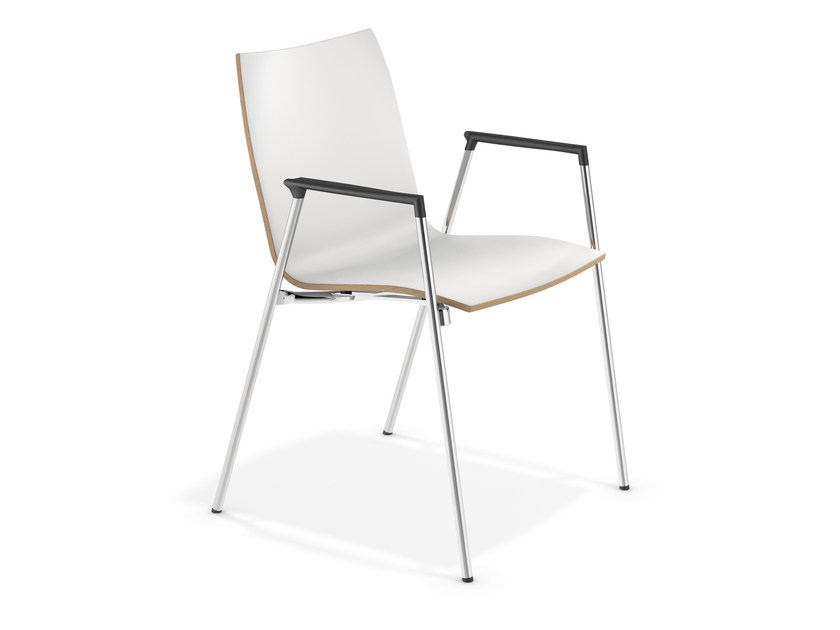 Laminate chair with armrests LYNX II | Chair with armrests - Casala