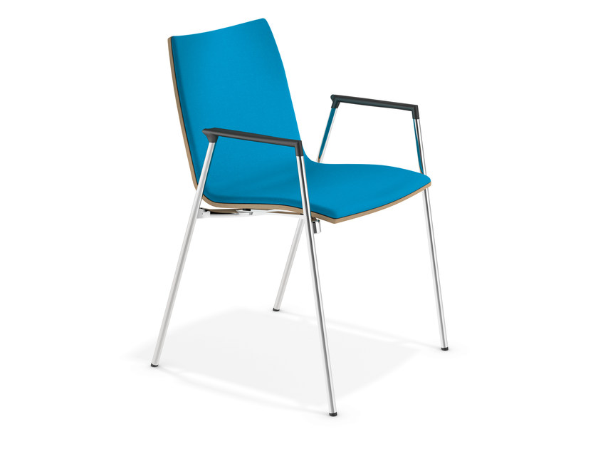 Fabric chair with armrests LYNX II | Chair with armrests - Casala