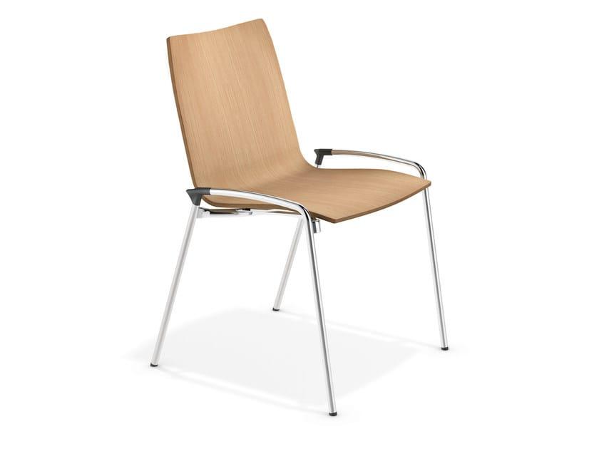 Stackable wooden chair LYNX II | Wooden chair - Casala