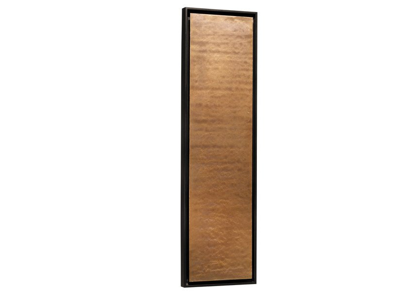 Vertical Olycale® panel radiator GREENOR UNI OCRE by Cinier