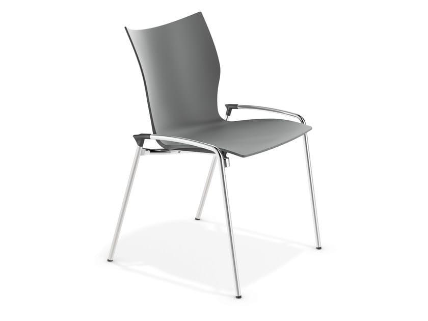 Plastic training chair LYNX III | Plastic chair - Casala