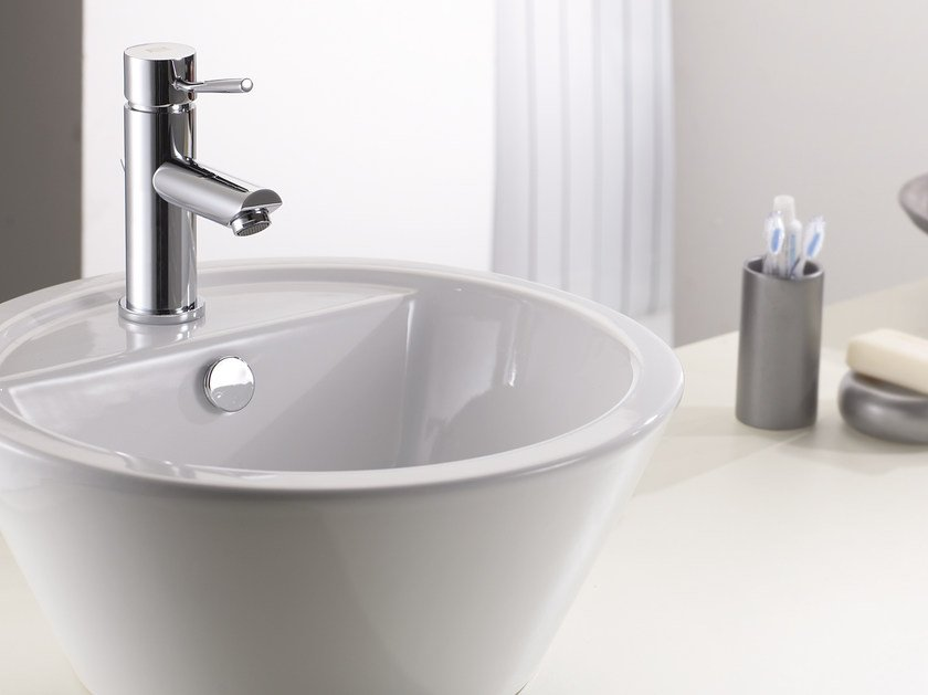 Countertop 1 hole washbasin mixer without waste MINIMAL | Washbasin mixer without waste - Remer Rubinetterie