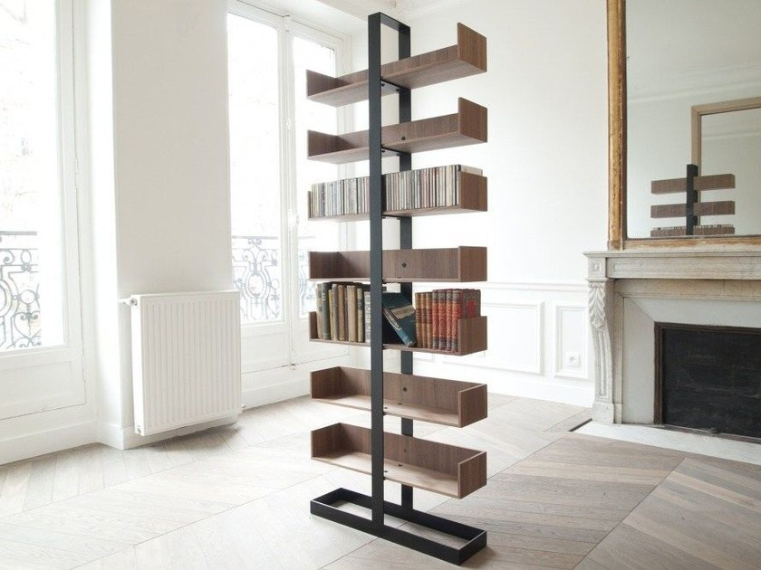 Contemporary style divider freestanding open wooden bookcase SÉVERIN 1 | Bookcase - Alex de Rouvray design