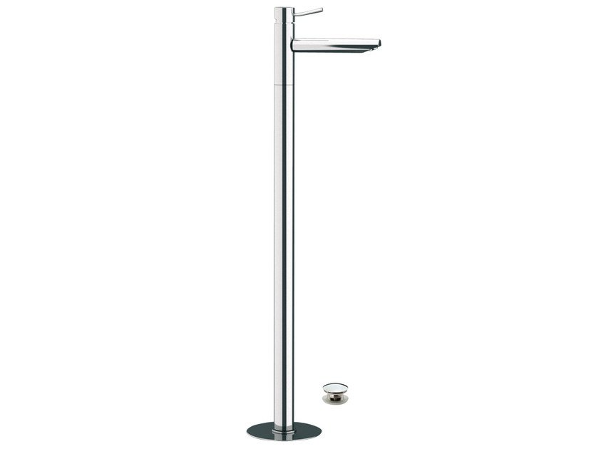 Floor standing single handle washbasin mixer MINIMAL | Floor standing washbasin mixer by Remer Rubinetterie