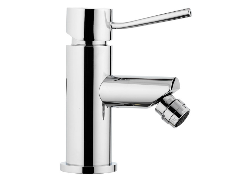 Chrome-plated countertop bidet mixer with aerator MINIMAL | Countertop bidet mixer - Remer Rubinetterie