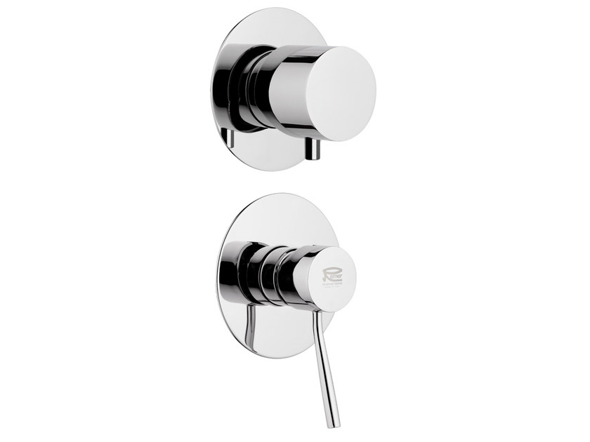 Chrome-plated shower mixer with diverter MINIMAL   Shower mixer with diverter - Remer Rubinetterie
