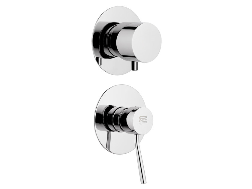 Chrome-plated shower mixer with diverter MINIMAL | Chrome-plated shower mixer by Remer Rubinetterie