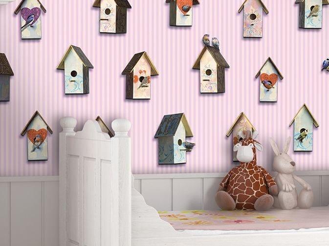 Motif vinyl wallpaper BIRDWATCHING by GLAMORA