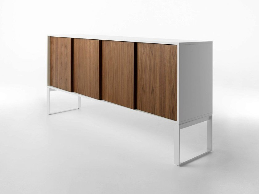 Wooden sideboard OBLIQUE by horm
