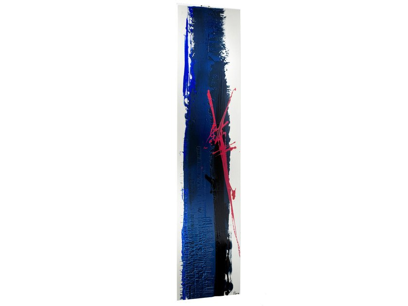 Wall-mounted Olycale® panel radiator BLUE - CINIER Radiateurs Contemporains