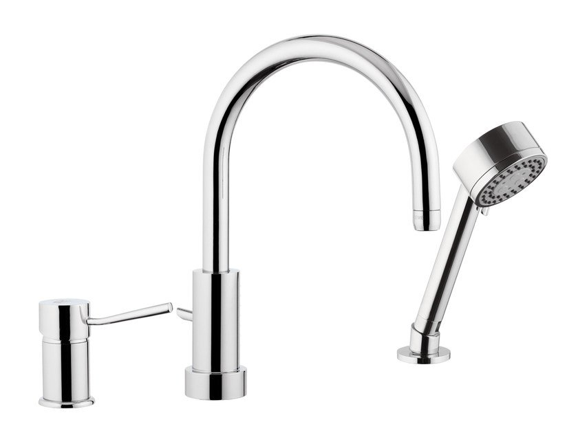 Countertop kitchen mixer tap with diverter with spray MINIMAL | Kitchen mixer tap with diverter - Remer Rubinetterie