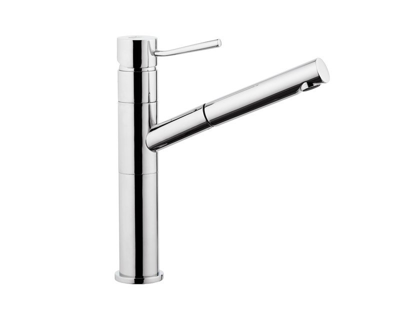 Countertop kitchen mixer tap with pull out spray MINIMAL | Kitchen mixer tap with pull out spray - Remer Rubinetterie