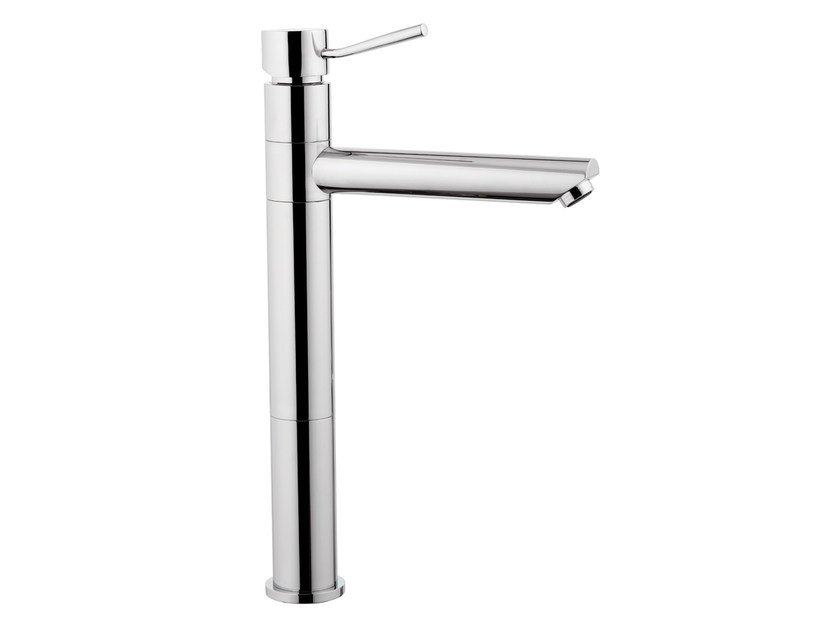 Chrome-plated countertop kitchen mixer tap with swivel spout MINIMAL | Kitchen mixer tap with swivel spout - Remer Rubinetterie