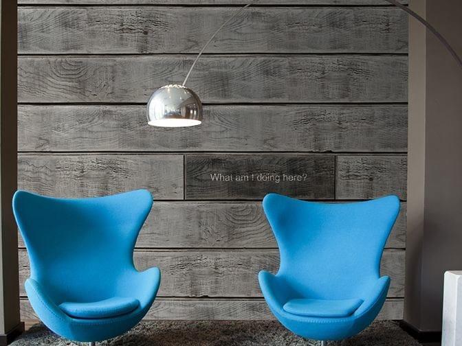 Wood effect vinyl wallpaper SO ALONE by GLAMORA